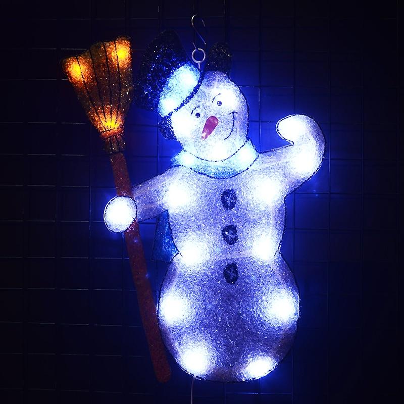 2D xmas snowman - 19.3 in. Tall 24V christmas light decoration outdoor fairy light navidad 2018 wedding light decoration party christmas snowman hanging gift sock xmas tree party decor
