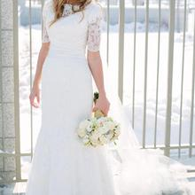 cecelle Vintage Mermaid Modest Wedding Dresses With
