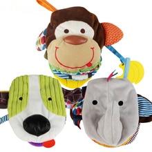 Baby Rasseln Beißring Spielzeug niedlichen Cartoon Tier Tuch Buch für Kleinkinder lernen früh Bildung Spielzeug Weihnachtsgeschenk