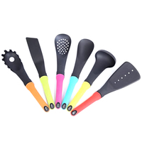 6 pcs/set Non Stick Kitchen Cooking Utensils Set Nylon Kitchen Soup Spoon Shovel Spatula Colander Kit