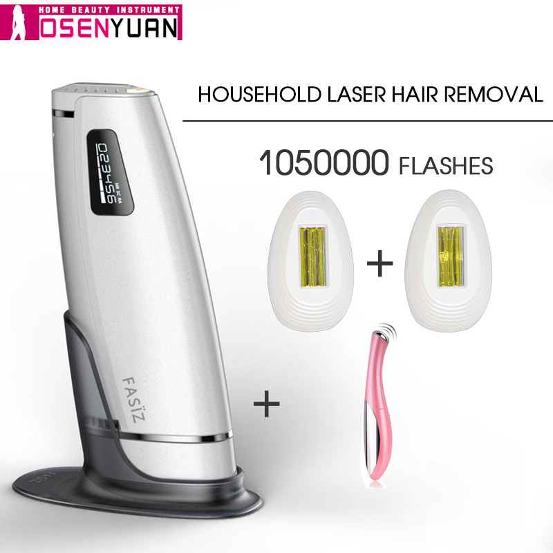 1050000 volte IPL epilatore rimozione dei capelli del laser epilador LCD macchina di visualizzazione del laser permanente bikini trimmer elettrico
