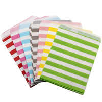 100 pièces coloré bonbons sacs rayure alimentaire résistant à la graisse papier bonbons Buffet enfants faveur cadeau de mariage décoration fête d'anniversaire fournitures