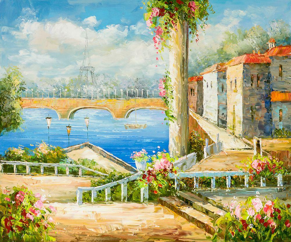 ୧ʕ ʔ୨no Frame Salon Art Peinture à L Huile Paysage