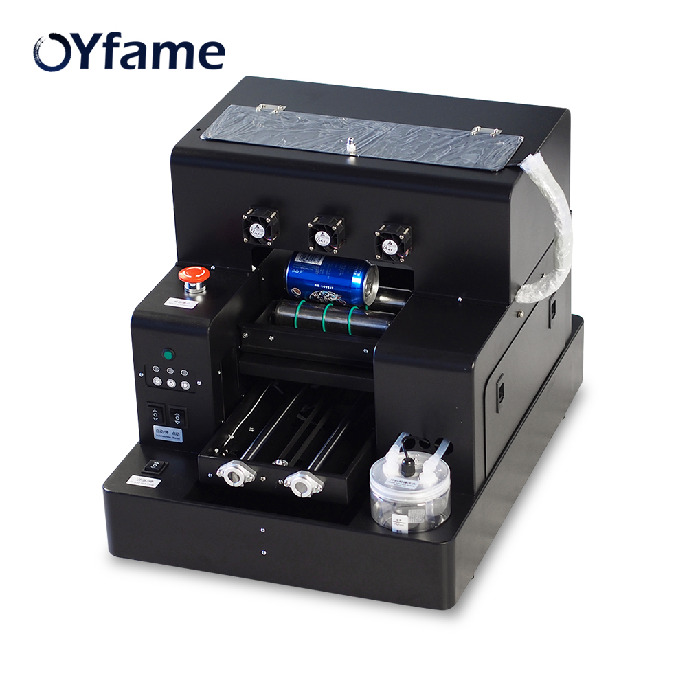 OYfame A4 Garrafa Máquina de Impressão UV Impressora plana UV Para A Caixa Do Telefone Para A Tampa Do Telefone do Metal Impressão Garrafa De Vidro Madeira máquina