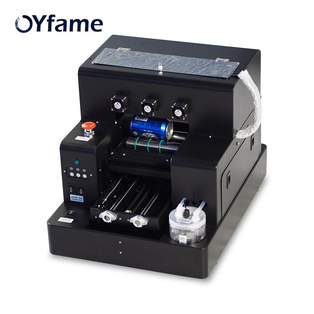 OYfame A4 UV à plat imprimante pour coque de téléphone bouteille UV Machine d'impression pour téléphone couverture métal verre bois bouteille Machine d'impression