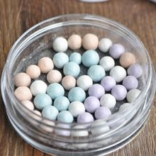 Silky Finish Blusher Cheek Magic Glow Face Powder Ball Purple Mix Color N03