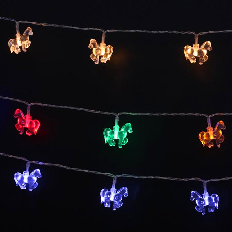 New Battery Operated 10 20 40leds 1.2M 2.5M 5M Light Holiday Christmas DIY LED Horse String Hotel Lamp Garden Decoration Lights