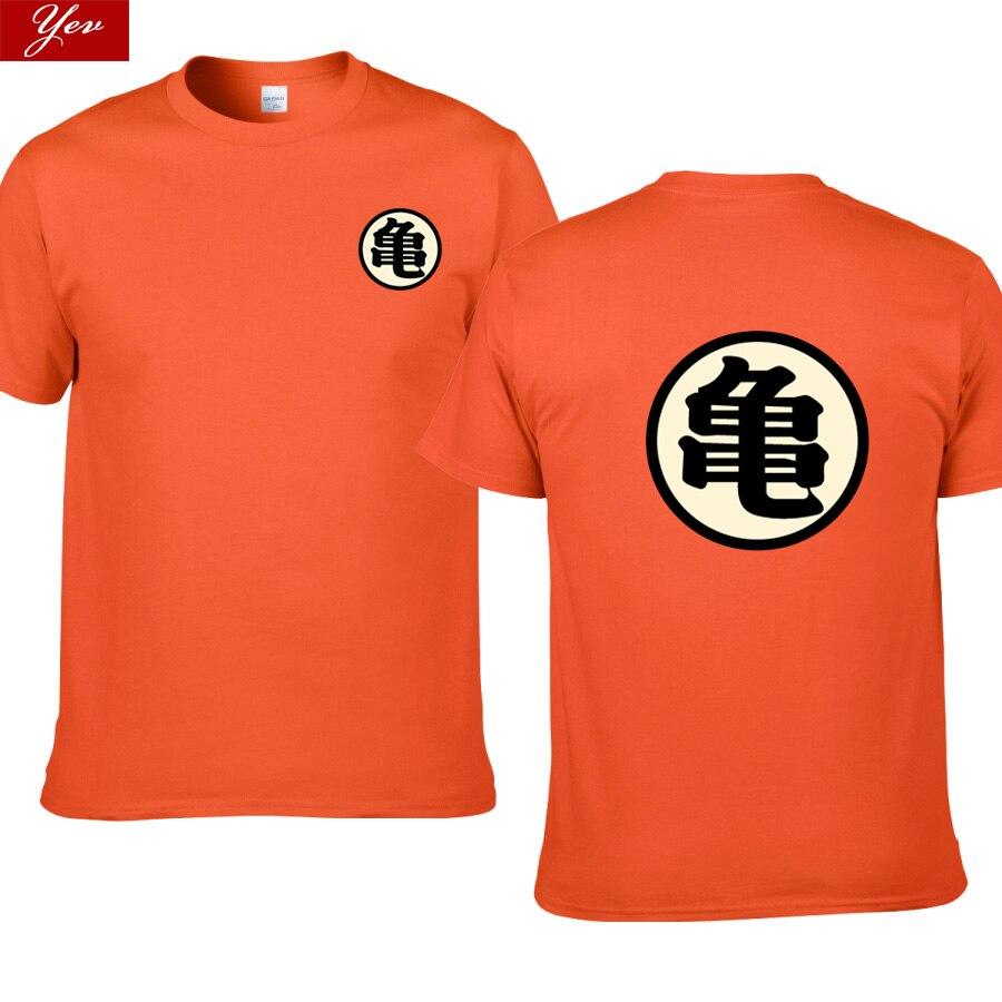 Футболка с героями мультфильма «Dragon Ball Master Roshi», мужская летняя футболка с героями аниме «Dragon Ball Z super son goku», забавная футболка для косплея, фу...