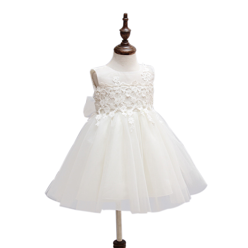 Baby Girl Pageant Wedding Dresses Infant Princess Little Girls 1 Year Birthday Party Dress Newborn Christening Gowns CL014