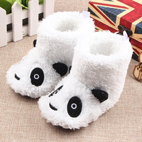 New Fashion Baby Booties Cute Pada Pattern Soft Sole Baby Girls Boys Toddler Kids Warm Baby