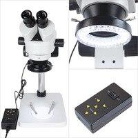64 светодио дный светодиодное кольцо для освещения микроскопа 4 режима 16 фаз регулируемый свет аксессуары для микроскопа высокое качество