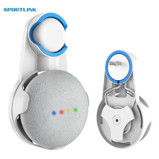 Para Google Home Mini montaje de pared para accesorios de Asistente de voz, soporte compacto para colgar en el dormitorio del baño de la cocina.