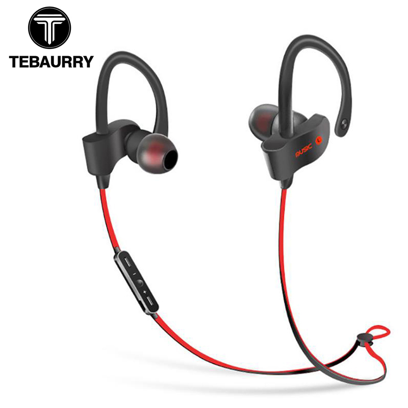 TEBAURRY S2 Bluetooth Earphone Wireless Headphone Bluetooth Headset Sport Stereo Super Bass Earbuds With Microphone for Running rinsec nx 8252 bluetooth headphone headband wireless wired headset foldable with stereo music earphone with microphone