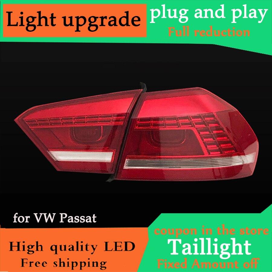 D YL Car Styling for VW US Passat B5 B7 Taillight 2011 2012 2013 2014 2015