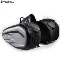 58L Waterproof One Set Motorcycle Saddlebag Universal Moto Riding Knight Helmet Bag Tail Luggage Suitcase for Suzuki Kawasaki