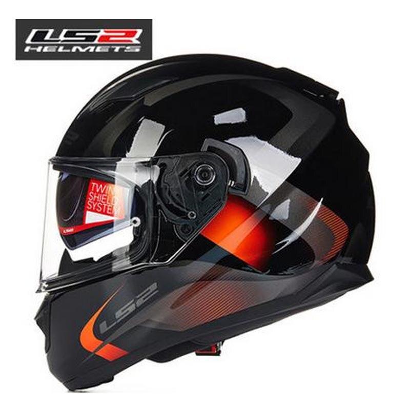 100 Original LS2 ff320 motorcycle font b helmet b font with inner sun visor full face