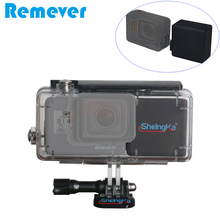 Batería Externa de 2300mAh para cámaras de acción Gopro Hero 5/6/7, carcasa de cámara impermeable de 45M, cargador de batería, color negro
