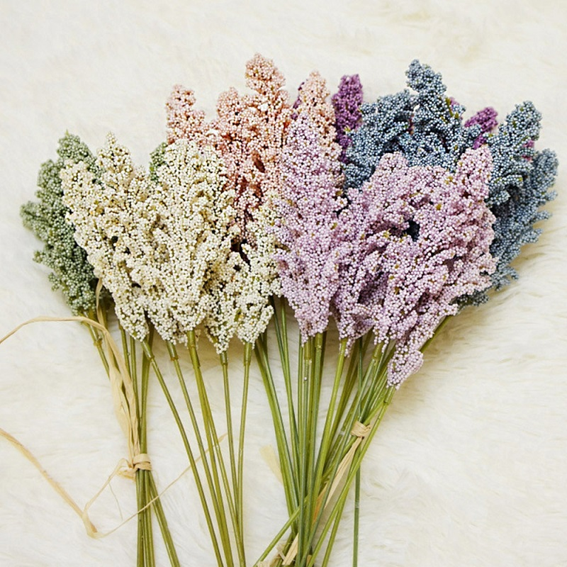 6Pcs/Pack Artificial Grain spikes small fresh with grass artificial flowers natural pastoral wedding home decoration