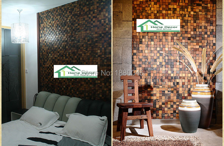 High Quality Ship Wood Mosaic Tile Innovative Building Materials