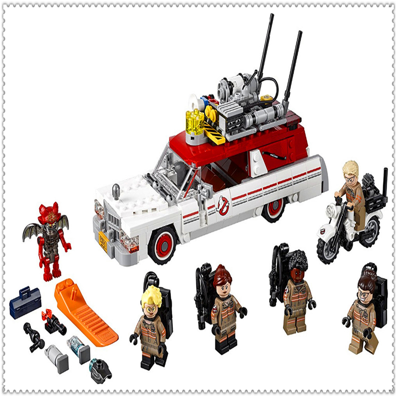 LEPIN 16032 Ghostbusters Ecto-1 & 2 Movie Series Building Block 586Pcs DIY Educational  Toys For Children Compatible Legoe decool 3114 city creator 3in1 vehicle transporter building block 264pcs diy educational toys for children compatible legoe