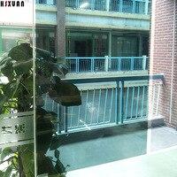 Verde Espelho películas decorativas da janela 80x100 cm Auto-Adesivo cola transparente janela carros adesivos Hsxuan marca à prova d' água 805506