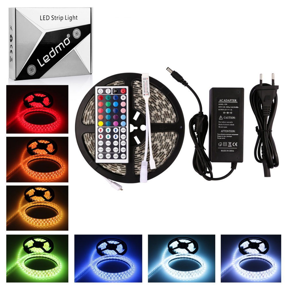 Us 12 69 Ledmo Waterproof Flexible Strip 300 Leds Color Changing Rgb Led Light Kit 5m With 44keys Ir Remote Controller 5a In