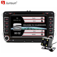 Junsun 7 inch Capacitive Screen 2 din Car DVD Player For Seat/Altea/Leon/Toledo/VW/Skoda GPS Navigation FM radio with free map