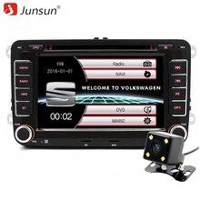 Junsun 7 дюймов емкостный Экран 2 DIN dvd-плеер для сиденья/Altea/Леон/Толедо/VW /Skoda GPS навигации FM радио с бесплатной картой