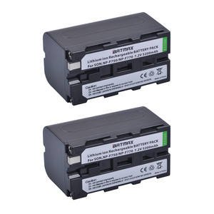 Image 2 - 2Pcs 5200mAh NP F750 NP F770 NP F750 배터리 Akku + LCD USB 충전기 소니 NP F970 F960 F550 F570 QM91D CCD RV100 TRU47E