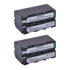 Image 2 - 2Pcs 5200mAh NP F750 NP F770 NP F750 סוללה Akku + LCD USB מטען עבור Sony NP F970 F960 f550 F570 QM91D CCD RV100 TRU47E