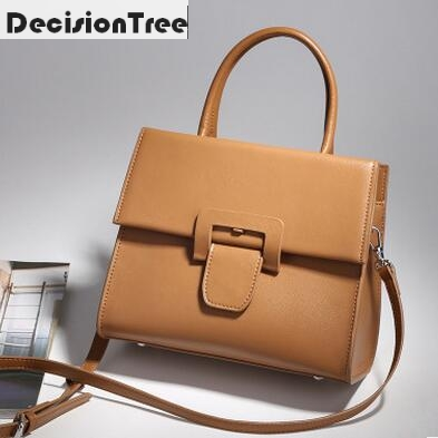 New Arrival Casual Women Shoulder Bags Genuine Leather Female Big Tote Bags Luxury Ladies Handbag Large Capacity Messenger Bag