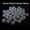 100pcs/lot Crystal AB Micro Pave CZ Disco Ball Beads Shamballa Crystal.Wholesale! Stock!High Quality! 6mm 8mm 10mm 12mm