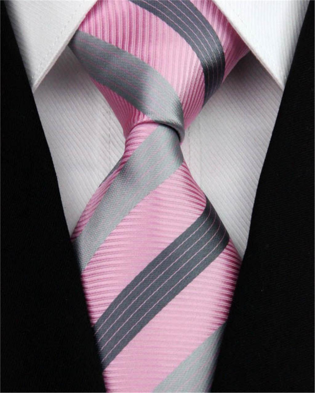 Hombre 100% traje de seda Ties negro Green rayado anaranjado corbata ...