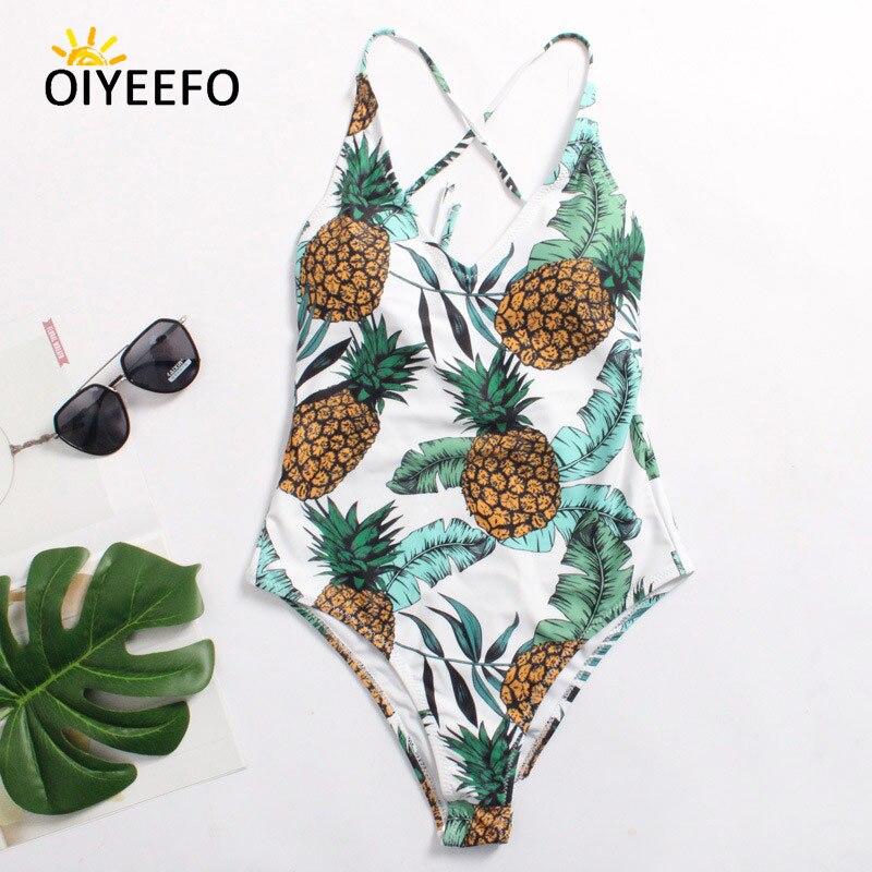 Oiyeefo Chic Pineapple Swimsuit One Piece Bathing Suits Women Plus Size  Swimwear Female 2018 Plavky Damy XL Summer Beachwear 3e16a49b3f6