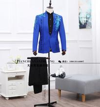 2017 Men's slim Vintage nationwide development go well with male chinese language tunic go well with costume wedding ceremony fits for males Three colours ( go well with + pant )