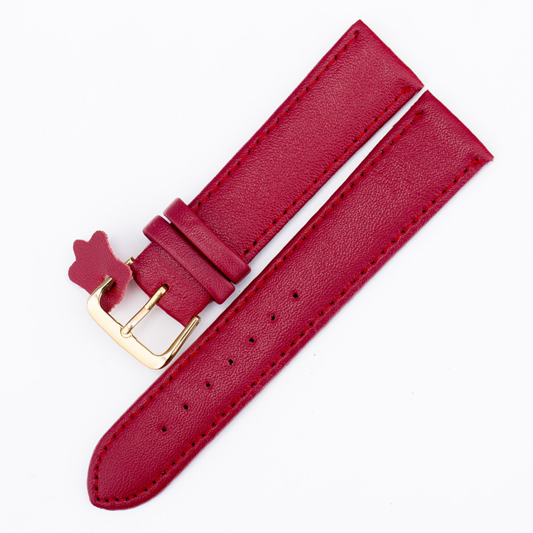 20mm Rose Gold Clock Watchbands Pin Buckle Bracelet Leather Watch Band for Women Size White Watch Strap Watch Clock Men Gifts friendship gifts birthday gifts fw819e rose gold band white dial ladies elegant alexis brand crystal bracelet watch gifts box