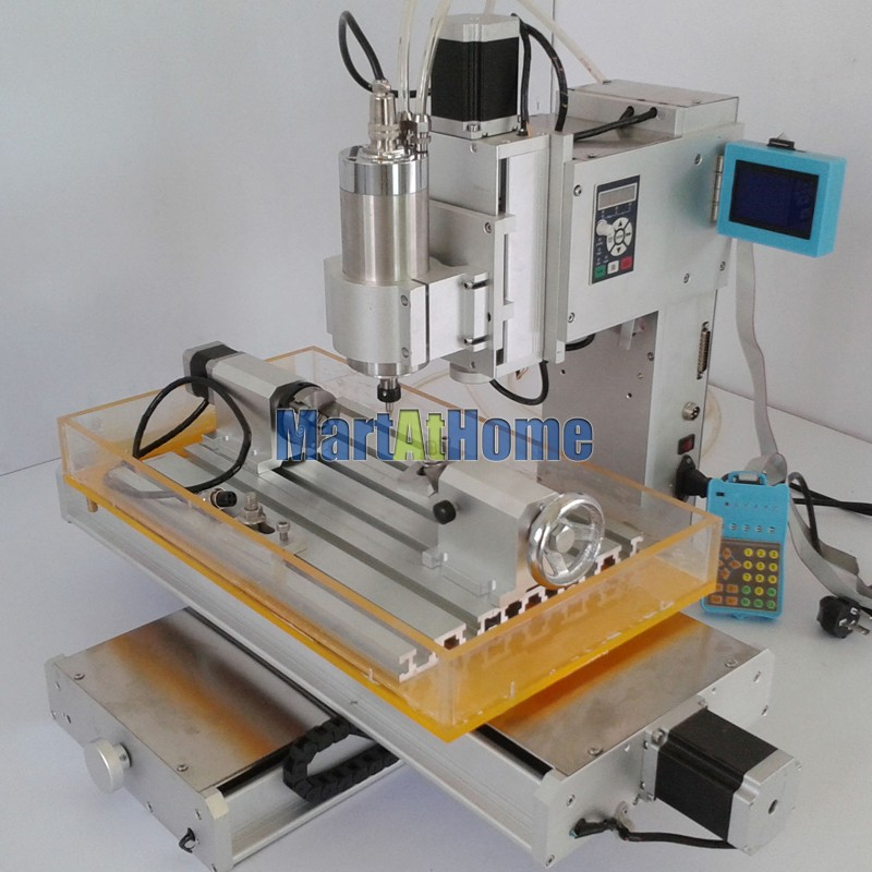 High-precision 1.5KW 3 Axis 3040 CNC Engraving Router Machine Table 110V/220V AC with 1500KW VFD Inverter and LCD #SM711  high precision table moving 4 axis cnc mini router 3 axis mini cnc router metal engraving machine 3030 4040 6060