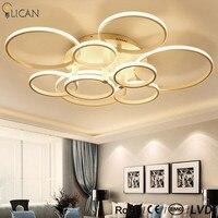 LICAN Rectangle Acrylic Aluminum Modern Led Ceiling Lights For Living Study Room Bedroom AC85 265V White