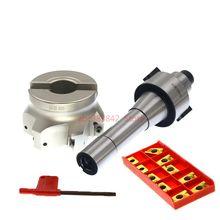 1set M12 Thread R8 FMB27  arbor +400R 80-27 face milling cutter+10pcs APMT1604 carbide inserts bt40 m16 square face mill400r 80 27 10pcs apmt1604 carbide insert