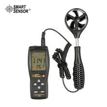 SMART SENSOR AS856 Digital Thermometer Anemometer Wind Air Speed Gauge Meter Windmeter Temperature Tester Poratable Measuring gm8910 handheld digital anemometer wind speed meter with wind chill dew point tester