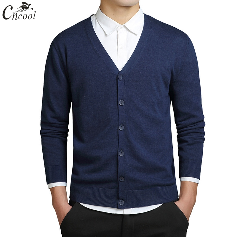 Cncool Mens Knitted Sweaters Cardigans 2019 Autumn Winter