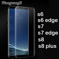 wholesale 100pcs full covered 3d screen for Samsung Galaxy s6 s7 s7 s8 edge plus screen protector pet Mobile phone soft film