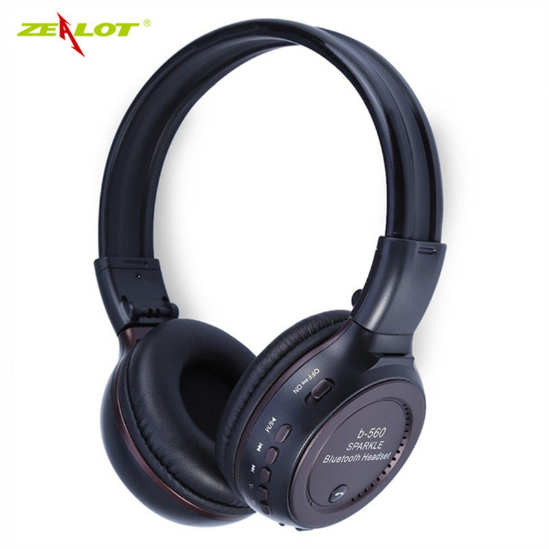Zealot B560 Earphone Wireless Bluetooth Headset Support Hands-free TF Card FM Radio Stereo with MIC for phone Foldable Headphone philips 24pht5210