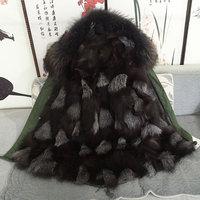 Customized fashion fox fur parka for mr& mrs wear,mens down jakcket for unisex fox wear free shipping