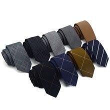 2016 New Hot Gentlemen Leisure Fashion Casual 6cm Neckwear Ties For Men Narrow Spinning Cravat Party Plaid Striped Necktie