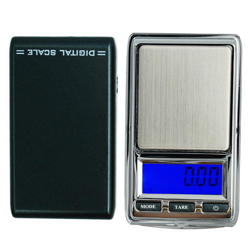 Mini Pocket Electronic Digital Jewelry Scale for Gold Cigarette Box Weigh Balance 0.01 200g *100g Weights with Leather sling 20% mini pocket digital scale 0 01 x 200g silver coin gold jewelry weigh balance lcd