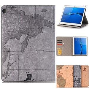 Чехол для Huawei MediaPad M3 Lite 10 BAH-W09 BAH-AL00 10,1 дюймов, роскошный, Карта мира, бизнес, умный, pu, leathr, чехол для планшета