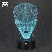 Batman Opponent Joker 3D Lamp USB Jack Novelty Night Light LED Desktop Decoration Table Lamps Funny Gift HUI YUAN Brand