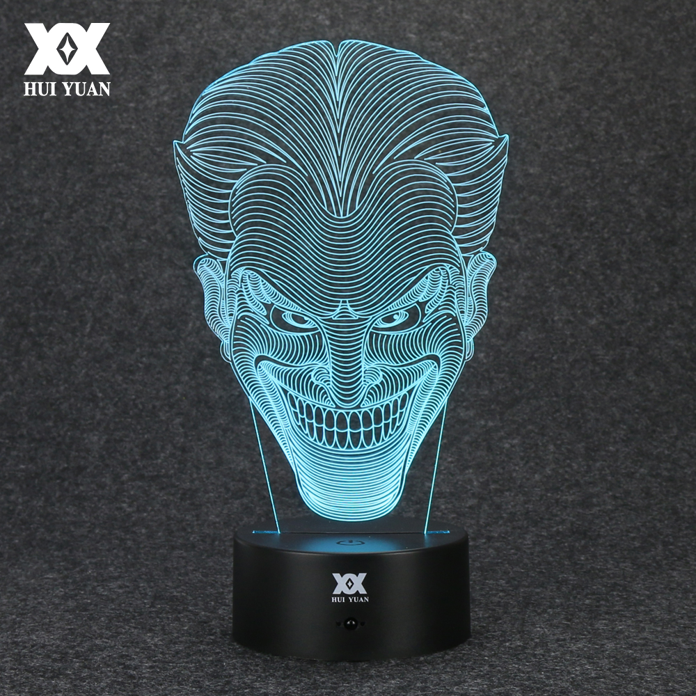 Batman Opponent Joker 3D Lamp USB Jack font b Novelty b font Night Light LED Desktop