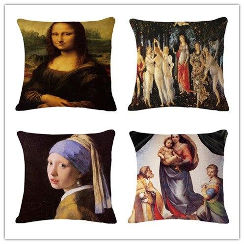 Acquerello Mona Lisa Fodere per Cuscini Biancheria Affetto Divano Seggiolino Aut